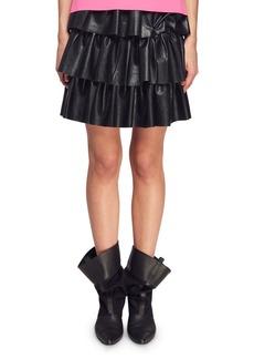 Stella McCartney Tiered Faux-Napa Mini Skirt