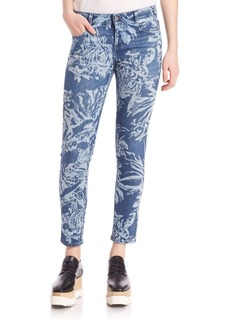 Stella McCartney Tiger-Print Skinny Ankle Jeans