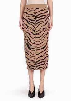 Stella McCartney Tiger Stripe Wool Pencil Skirt