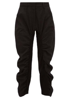 Stella McCartney Tina cropped ruched twill trousers