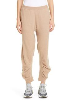 Stella McCartney Tina Gathered Wool Jogger Sweater Pants