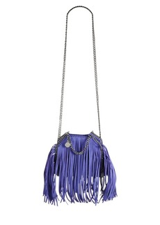 Stella McCartney Tiny Bella Fringe Fold-Over Bucket Bag