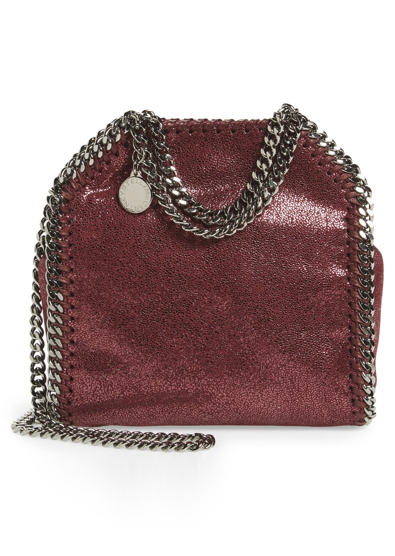 606ac39936d4 Stella McCartney  Tiny Falabella  Metallic Faux Leather Crossbody Bag.