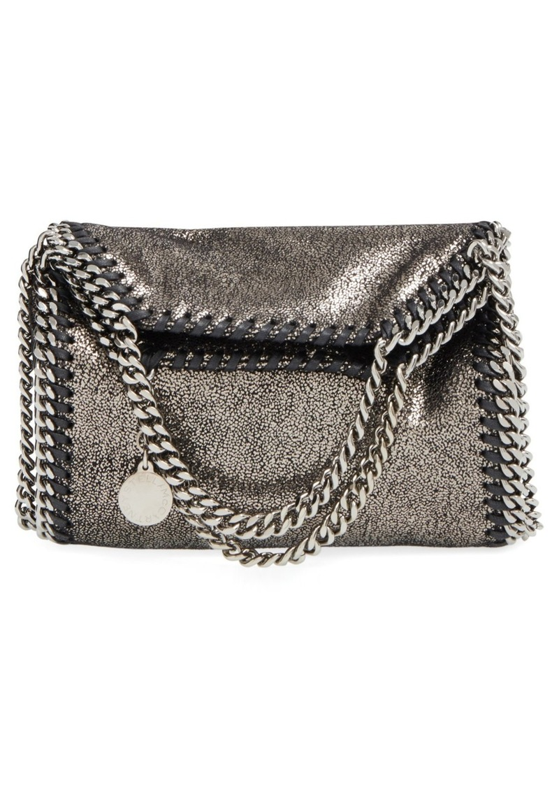 9f4e0c43fcf4 Stella McCartney  Tiny Falabella  Metallic Faux Leather Crossbody Bag.
