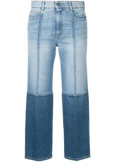 Stella McCartney two-tone cropped jeans - Blue