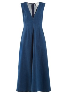 Stella McCartney Bias-cut denim dress