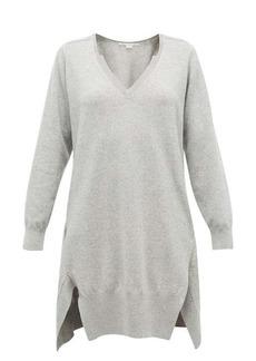 Stella McCartney V-neck side-slit cashmere-blend sweater dress