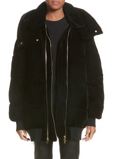 Stella McCartney Velour Puffer Coat