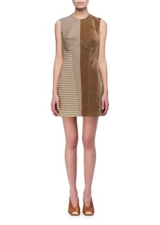 Stella McCartney Velvet & Check Bustier Minidress