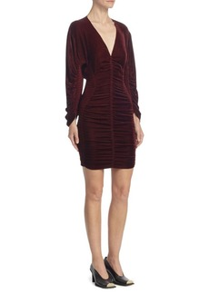 Stella McCartney Velvet Ruched Mini Dress