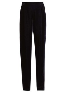 Stella McCartney Velvet wide-leg trousers