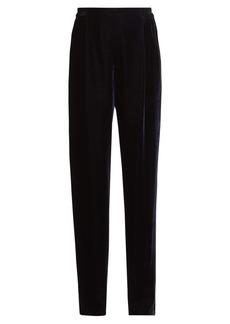 Stella McCartney Velvet wide-leg trousers