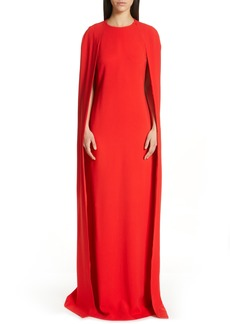 Stella McCartney Violet Cape Sheath Gown