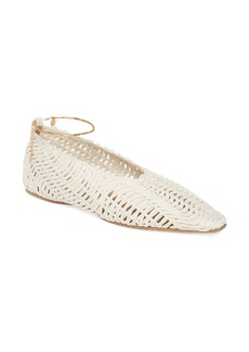 Stella McCartney Wicker Ballet Flat with Ankle Bracelet (Women)