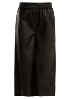 Stella McCartney Wide-leg cropped faux-leather trousers