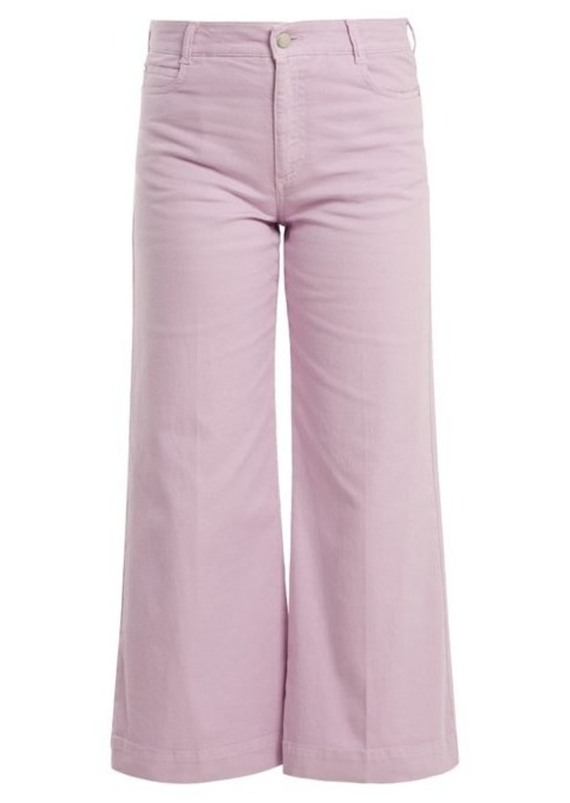 Stella McCartney Wide-leg cropped jeans