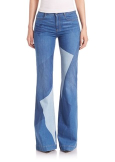 Stella McCartney Wide Leg Print Patch Jeans