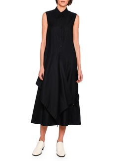 Stella McCartney Willow Sleeveless Wrap-Detail Cotton Midi Dress