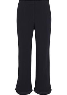 Stella Mccartney Woman Aliza Pleated Crepe Kick-flare Pants Black