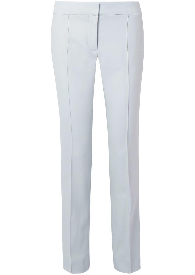 Stella Mccartney Woman Anna Wool-piqué Straight-leg Pants Sky Blue