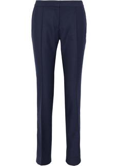 Stella Mccartney Woman Anna Wool-piqué Straight-leg Pants Navy