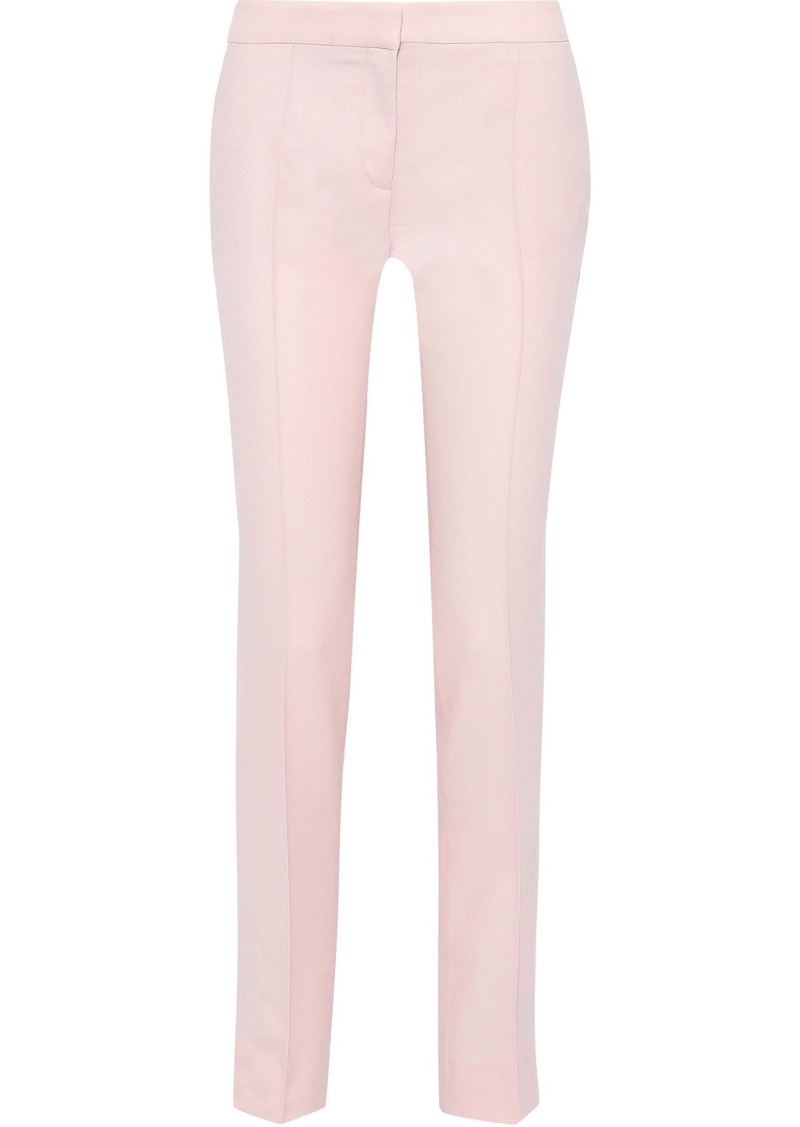 Stella Mccartney Woman Anna Wool-piqué Straight-leg Pants Pastel Pink