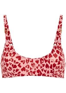 Stella Mccartney Woman Arizona Lushing Leopard-print Stretch-jersey Soft-cup Bra Blush