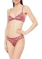 Stella Mccartney Woman Arizona Lushing Leopard-print Stretch-jersey Soft-cup Triangle Bra Blush