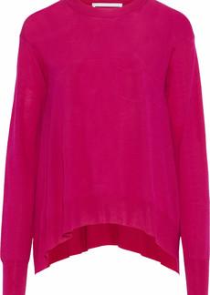 Stella Mccartney Woman Asymmetric Wool Top Fuchsia
