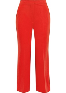 Stella Mccartney Woman Augusta Cropped Stretch-wool Straight-leg Pants Tomato Red