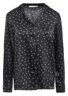 Stella Mccartney Woman Betty Twinkling Printed Silk-blend Satin Pajama Top Black