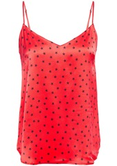 Stella Mccartney Woman Betty Twinkling Printed Stretch-silk Satin Camisole Tomato Red
