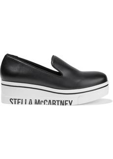 Stella Mccartney Woman Binx Faux Leather Platform Slip-on Sneakers Black