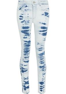 Stella Mccartney Woman Bleached Mid-rise Skinny Jeans Light Denim