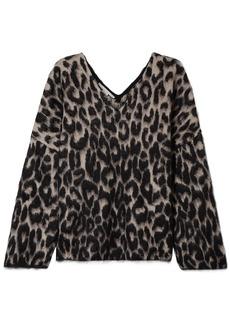 Stella Mccartney Woman Brushed Cotton-blend Jacquard Sweater Animal Print