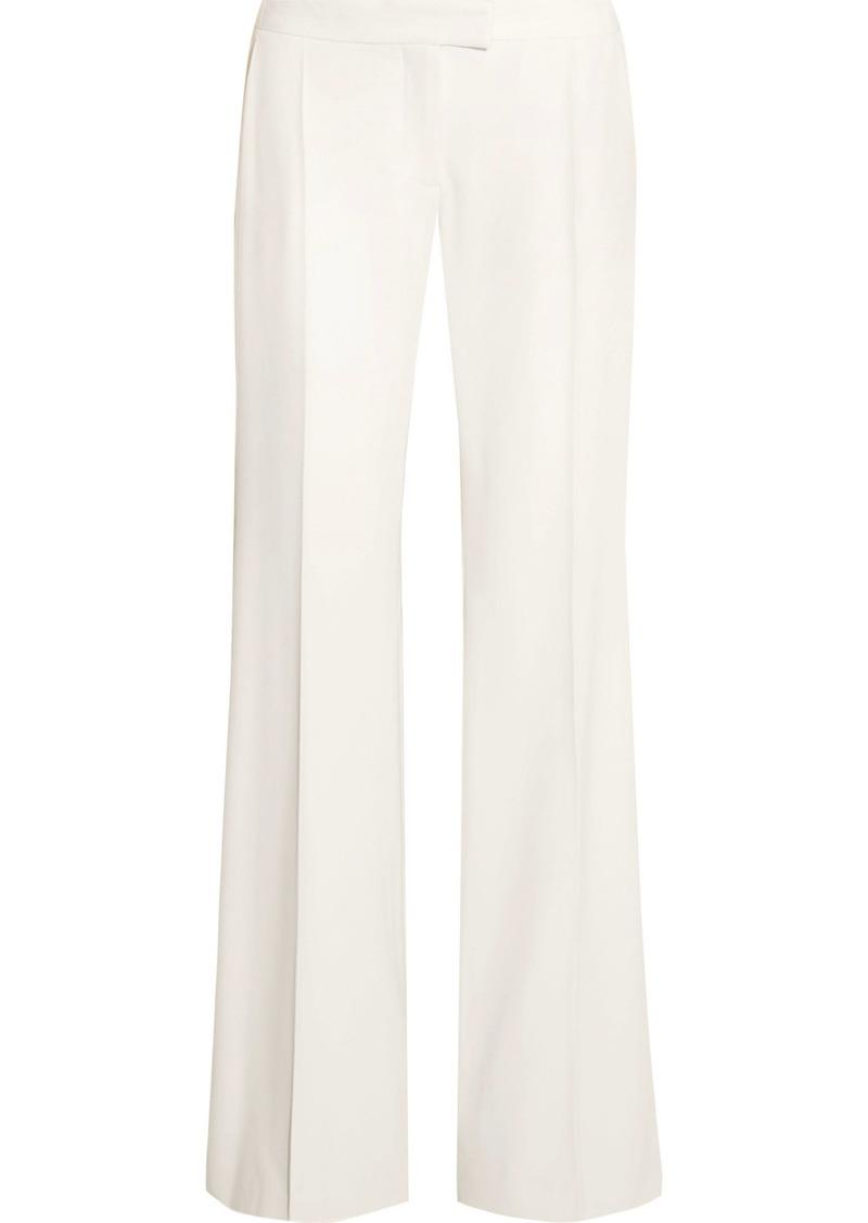Stella Mccartney Woman Canvas-trimmed Wool-twill Wide-leg Pants Ivory