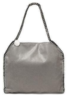 Stella Mccartney Woman Chain-trimmed Faux Brushed-leather Tote Light Gray