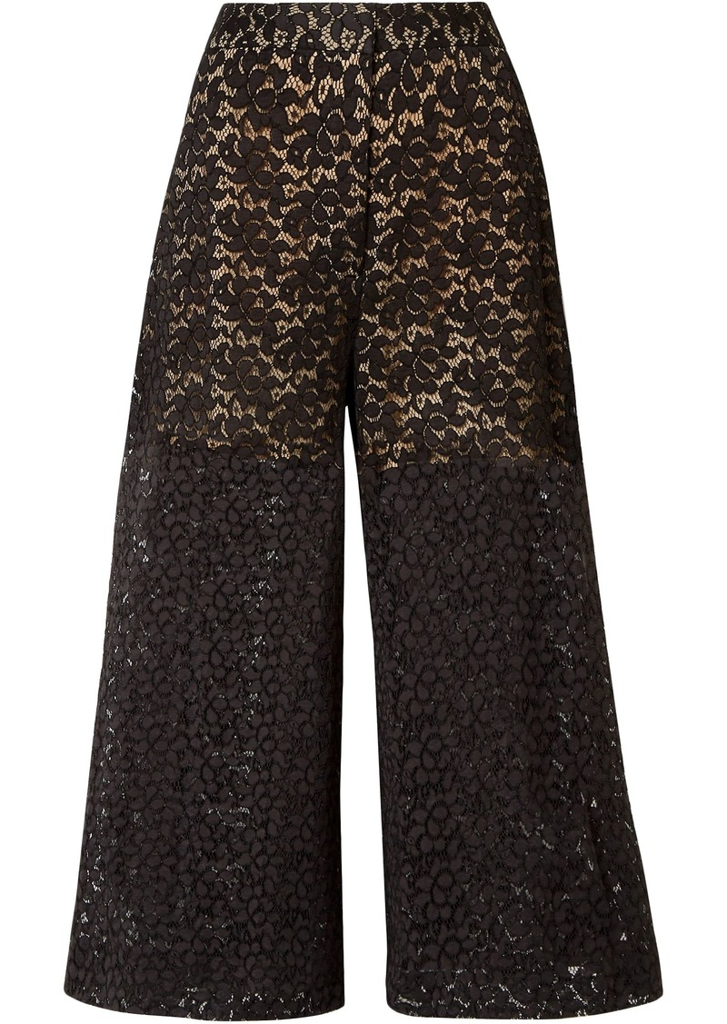 Stella Mccartney Woman Cotton-blend Corded Lace Culottes Black