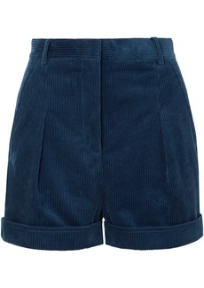 Stella Mccartney Woman Cotton-corduroy Shorts Navy