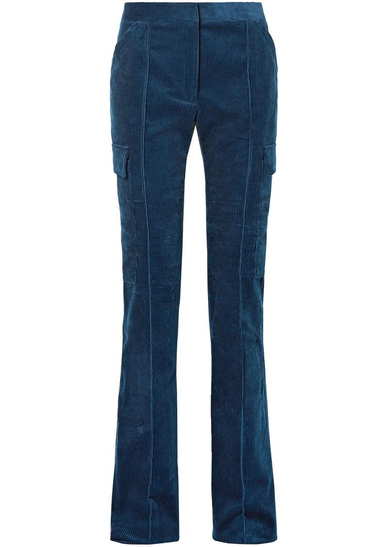 Stella Mccartney Woman Cotton-corduroy Bootcut Pants Blue
