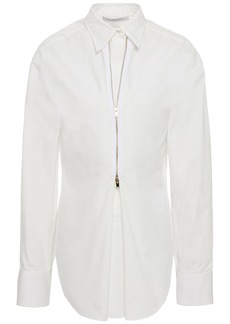 Stella Mccartney Woman Cotton-jacquard Shirt Ecru