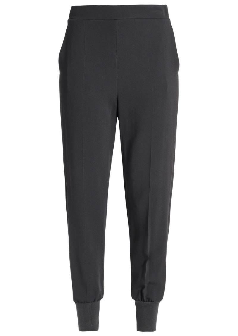Stella Mccartney Woman Crepe Tapered Pants Anthracite