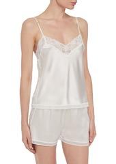 Stella Mccartney Woman Cressie Charming Lace-trimmed Silk-blend Satin Pajama Shorts Black