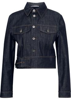 Stella Mccartney Woman Cropped Denim Jacket Mid Denim