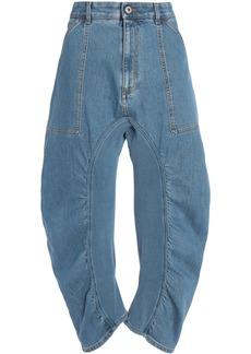 Stella Mccartney Woman Cropped High-rise Straight-leg Jeans Mid Denim