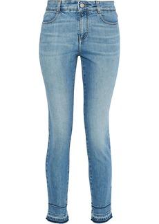 Stella Mccartney Woman Cropped Mid-rise Skinny Jeans Light Denim