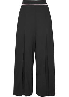 Stella Mccartney Woman Cropped Wool-crepe Wide-leg Pants Black