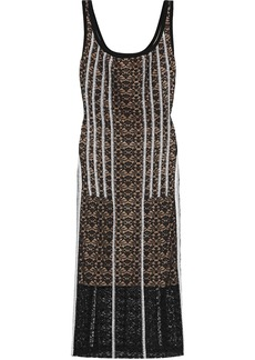 Stella Mccartney Woman Cutout Embroidered Cotton-blend Lace Midi Dress Black
