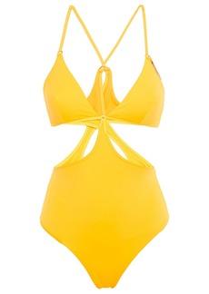 Stella Mccartney Woman Cutout Swimsuit Yellow