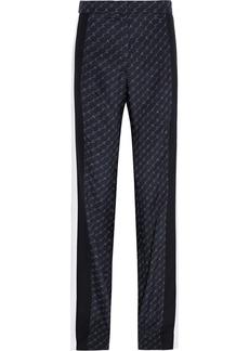 Stella Mccartney Woman Dana Printed Silk Crepe De Chine Wide-leg Pants Midnight Blue